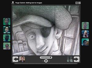 screenshot of a voicethread.com production