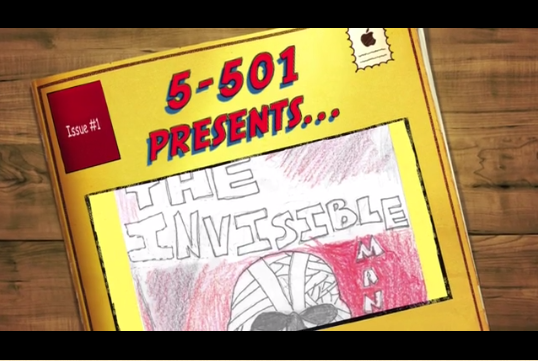 PS124 Book Trailer – Comic Book Adaptation of The Invisible Man – Grade 5