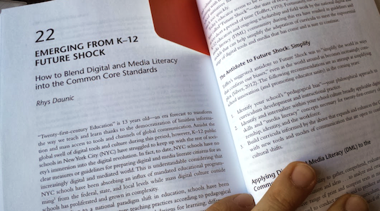 TMS writes chapter on Blending the Common Core with Media Literacy