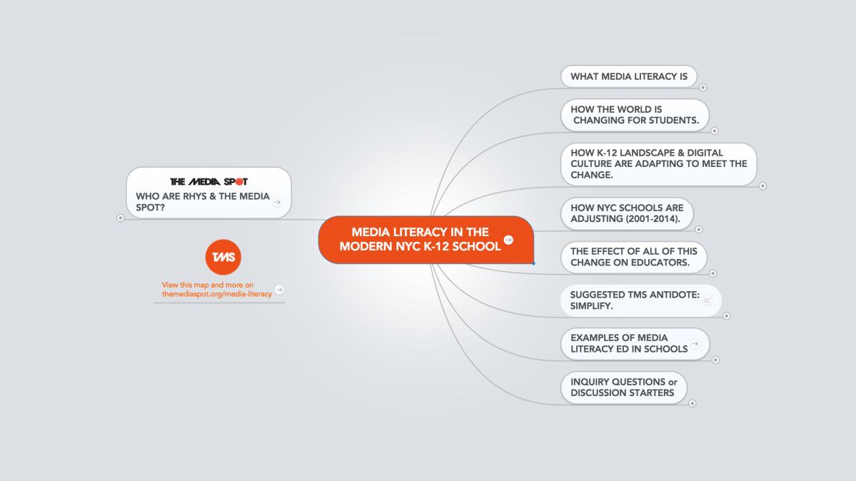 Interactive Map: Media Literacy in the K-12School