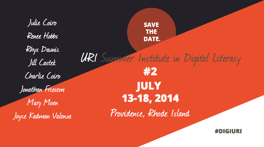 TMS at URI Summer Institute in Digital Literacy 2: JULY 13-18 2014!