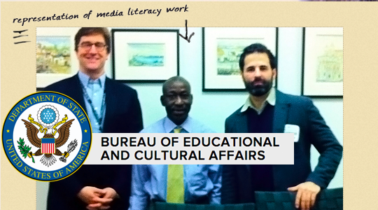 The Media Spot represents media literacy ed to international journalists at the U.S. StateDepartment